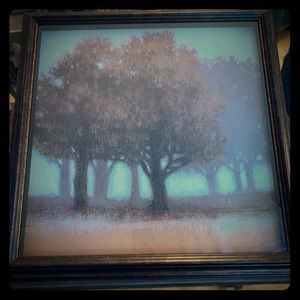 """22""""x22"""" framed Norman Wyatt Jr Painting with glass"""